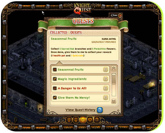 The Quest log was making tracking multiple quests at once somewhat easier