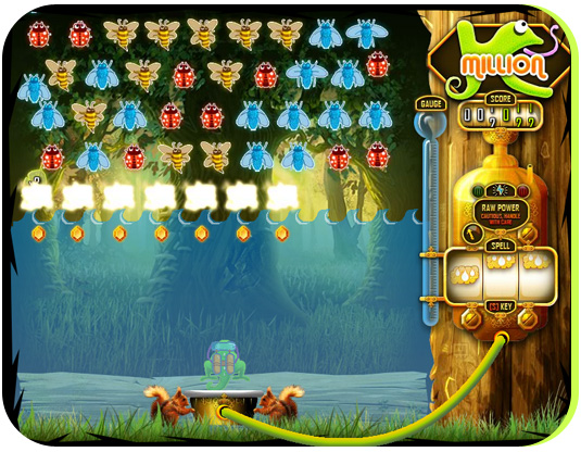 Another special attack, Downpoor, floods the stage and kills all the insect caught underwater!