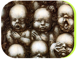 HR Gigers difformed Babies