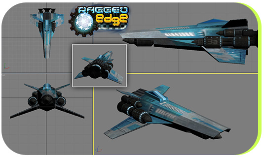 A textured model for one of the playable ships