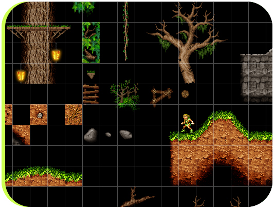 Some of the graphics used in level 1